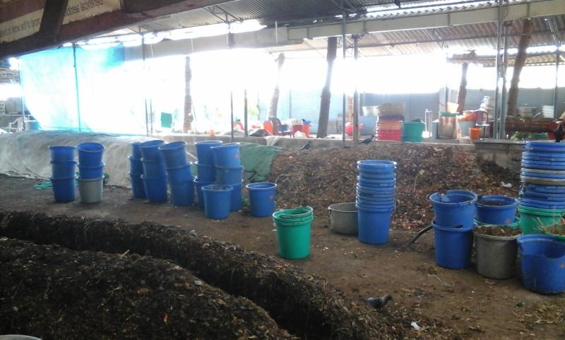 Le recyclage à l'ashram d'Amma 20150110