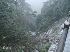 La Chine sac au dos (7) : Une des Montagnes Bouddhistes. Le  Mont Emeishan: ascension en janvier 2008 Descen10
