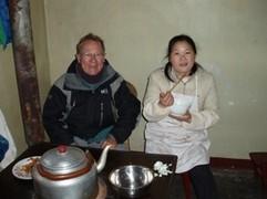 La Chine sac au dos (7) : Une des Montagnes Bouddhistes. Le  Mont Emeishan: ascension en janvier 2008 Diner_11