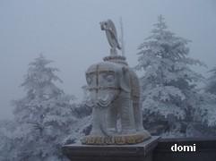 La Chine sac au dos (7) : Une des Montagnes Bouddhistes. Le  Mont Emeishan: ascension en janvier 2008 Elapha10