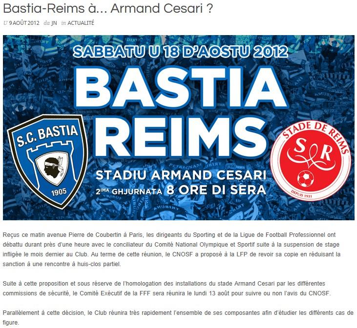 Bastia-Reims à Armand Cesari ? Br10
