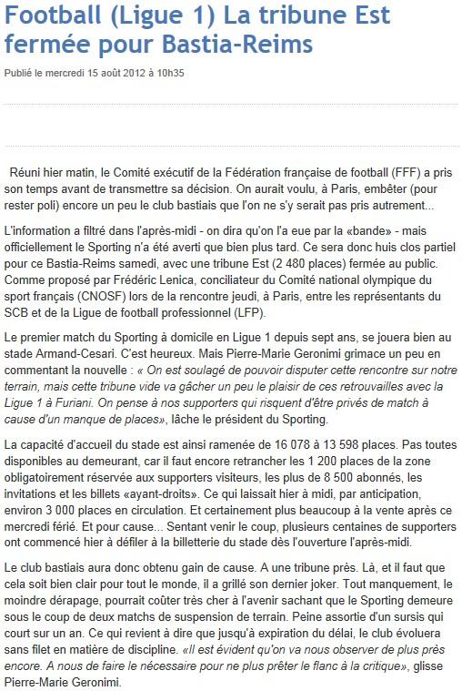 Bastia-Reims à Armand Cesari ? S10