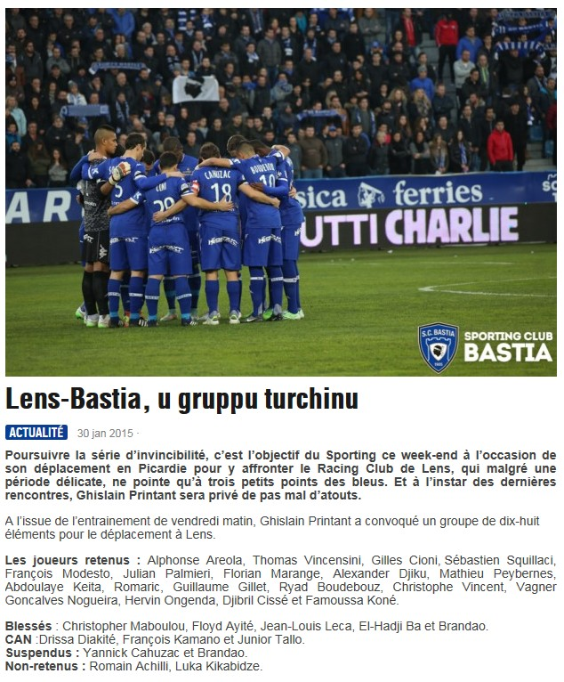 J23 / Jeu des pronos - Prono Lens-Bastia S166
