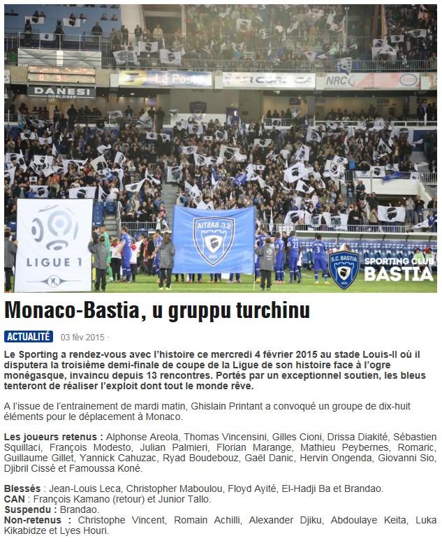 1/2CdL / Jeu des pronos - Prono Monaco-Bastia S178