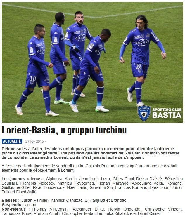 J27 / Jeu des pronos - Prono Lorient-Bastia S216