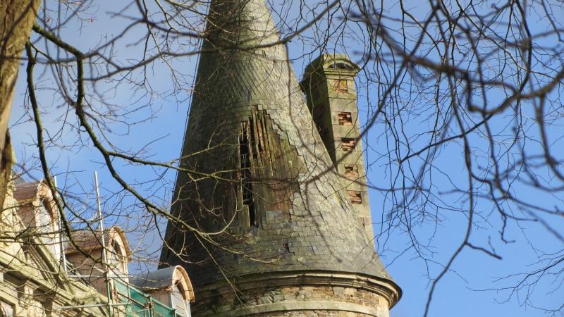Chateau de Coat an Noz dans les Côtes d'Armor  00610