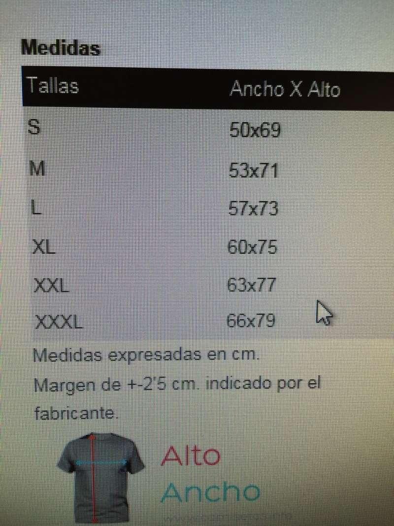 Tallas polos Cuenca 7d65b310