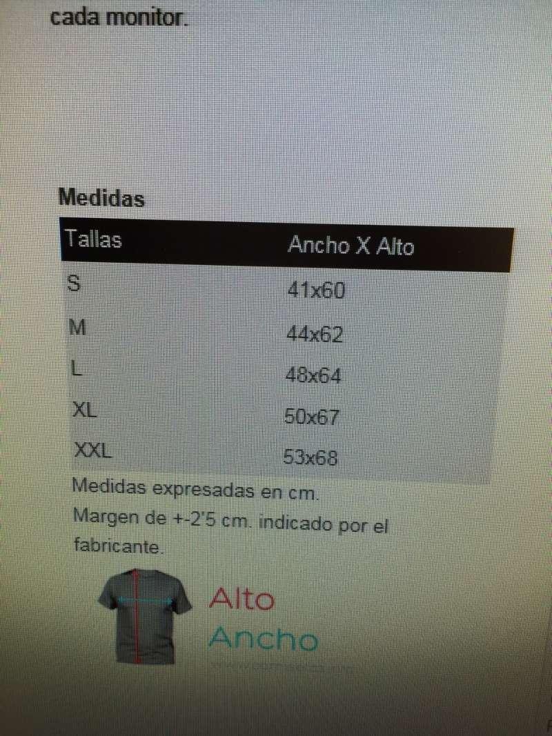 Tallas polos Cuenca 87092210