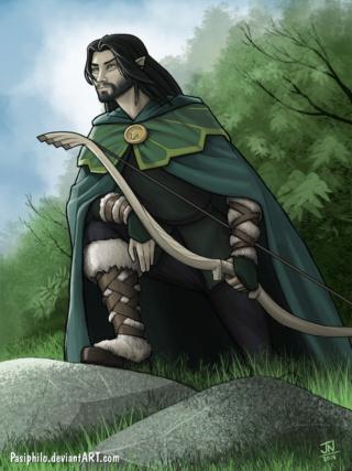 Guitelhöm, demi-elfe chasseur, ermite et un brin misanthrope  Guitel12