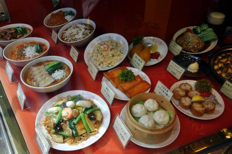 Sampuru : des faux plats qui présentent les répliques en plastique des différents menus des restaurants Assiet10