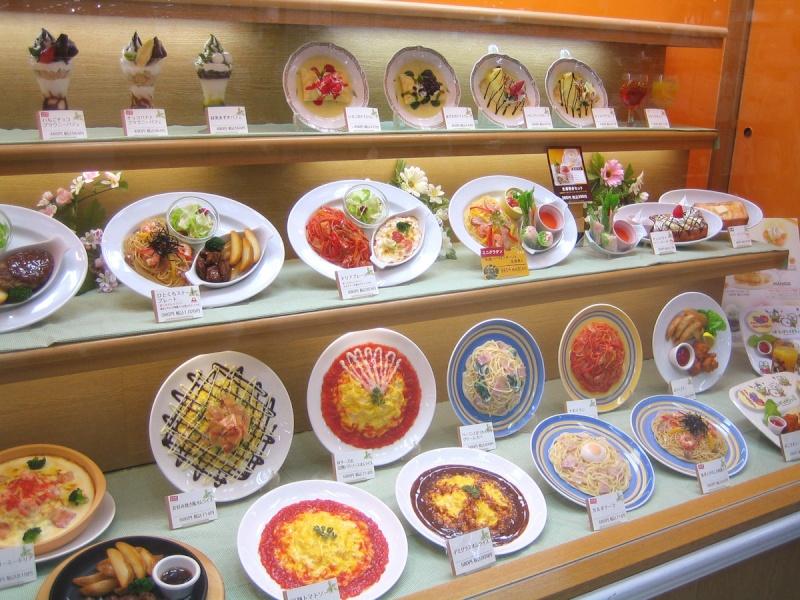 Sampuru : des faux plats qui présentent les répliques en plastique des différents menus des restaurants Grand-10