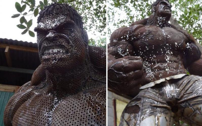 Ces ferrailleurs scultent la pop culture  Hulk-210