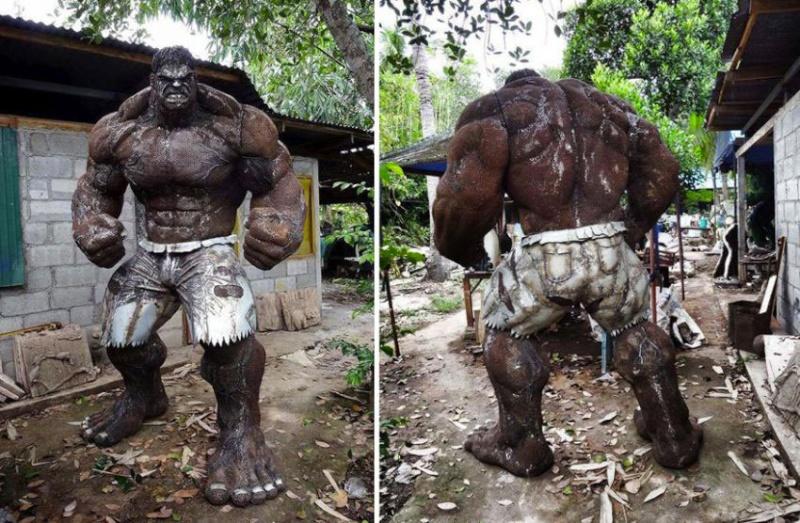 Ces ferrailleurs scultent la pop culture  Hulk-310