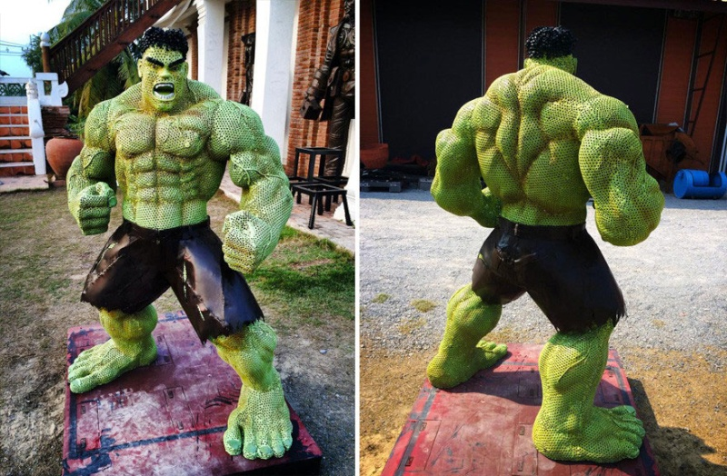 Ces ferrailleurs scultent la pop culture  Hulk-c10