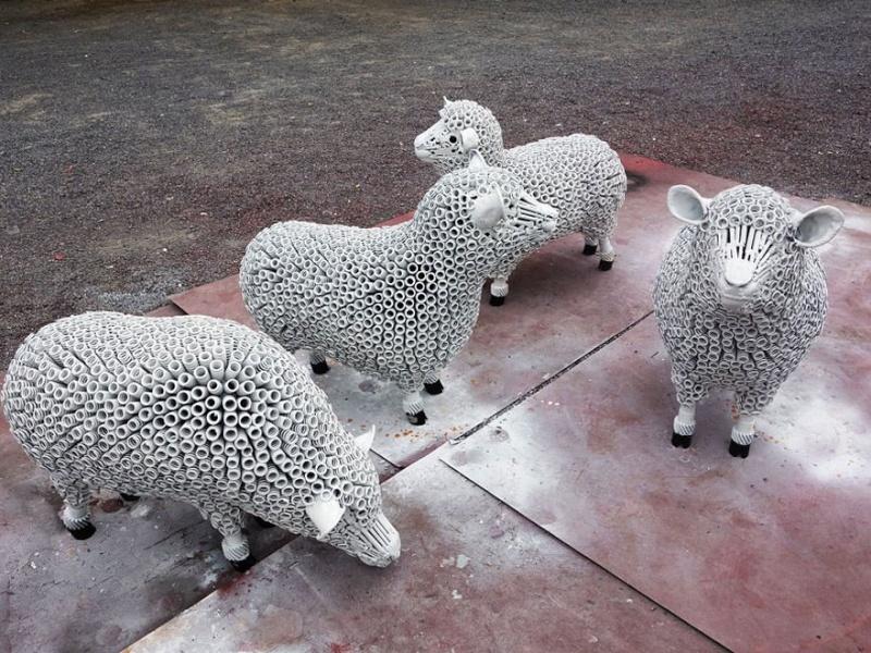 Ces ferrailleurs scultent la pop culture  Mouton10