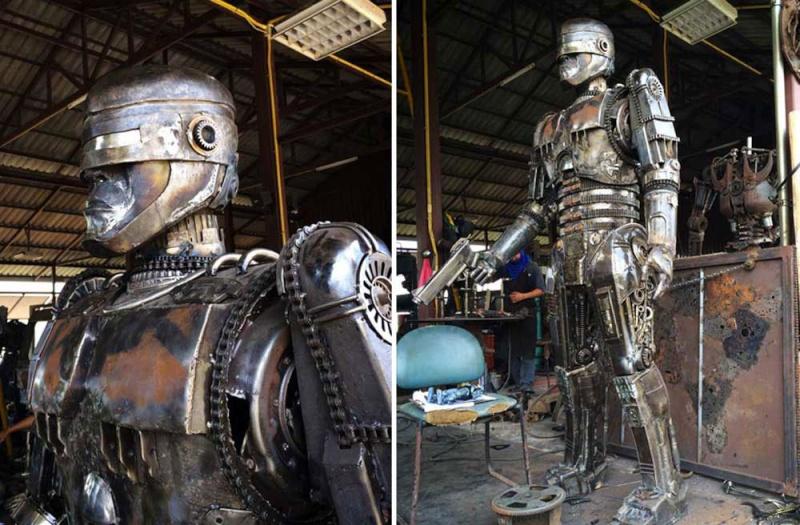 Ces ferrailleurs scultent la pop culture  Roboco10