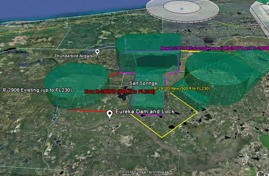 Amendments of Restricted Areas: R-2907A and R-2907B, Lake George, FL; and R-2910, Pinecastle, FL Propos11