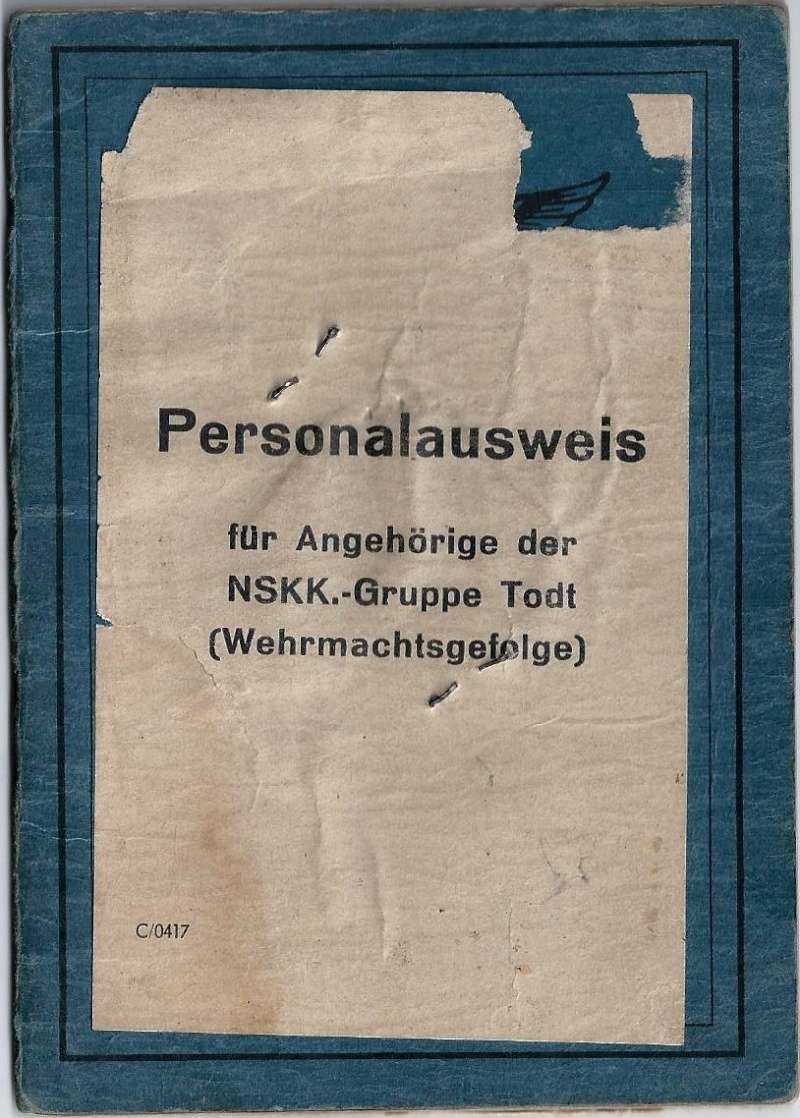 Vos livrets militaires allemands WWII (Soldbuch, Wehrpass..) / Heer-LW-KM-SS... - Page 2 026