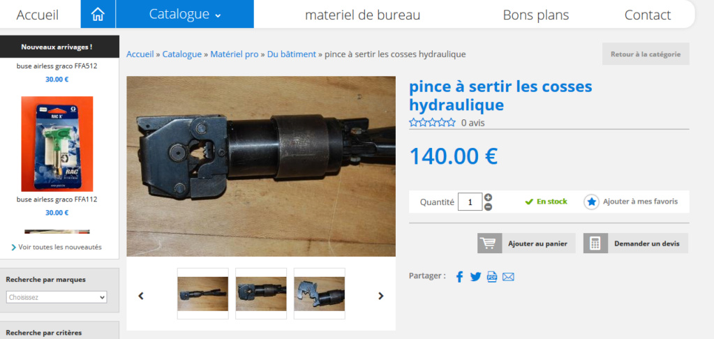 Outillage hydraulique  Sertis10