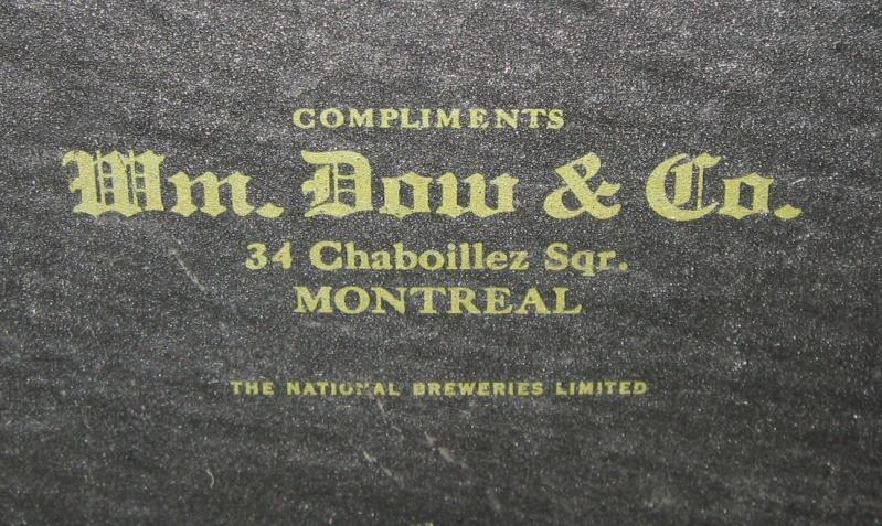 ANNONCE DE BIERE DOW 1909 - 1915 ENVIRON  Img_9213