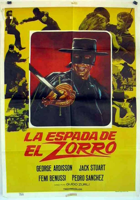 Zorro le Renard. El Zorro. 1968. Guido Zurli. 3452210