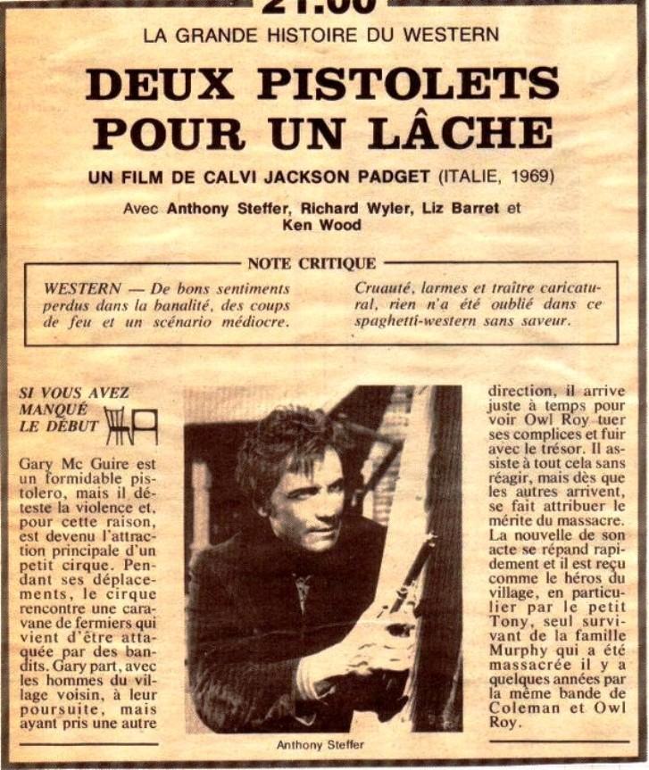 Deux pistolets pour un lâche (Il pistolero segnato di Dio ) -1967- Calvin Jackson Paget (Giorgio Ferroni) 40524310