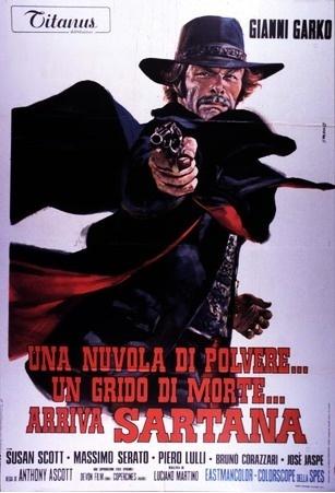 Une trainée de poudre... les pistoleros arrivent ! Una nuvola di polvere... un grido di morte... arriva Sartana de Giuliano Carnimeo, 1971 Locand11