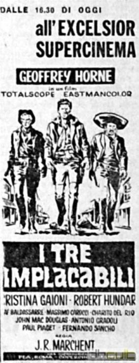 Trois cavaliers noirs . Tres Hombres Buenos . 1963. J.L. Romero Marchent. Zadit310