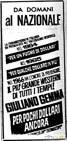 3 cavaliers pour Fort Yuma . Per Pochi Dollari Ancora . 1966 . Giorgio Ferroni. Zgds1810