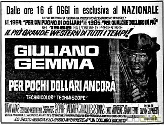 3 cavaliers pour Fort Yuma . Per Pochi Dollari Ancora . 1966 . Giorgio Ferroni. Zgds1910