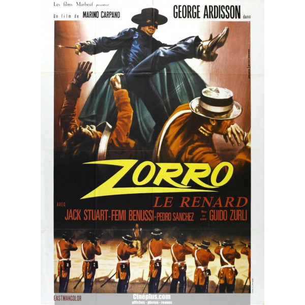 Zorro le Renard. El Zorro. 1968. Guido Zurli. Zorro-10