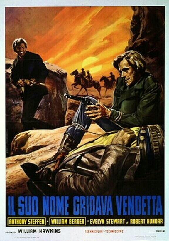 Son nom crie vengeance ( Il suo nome gridava vendetta ) - 1968 - Mario Caiano Affich11