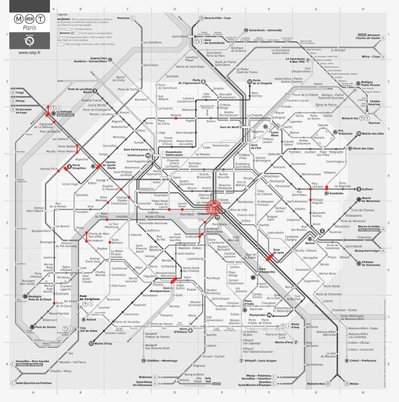 Carte du Métro Paris-12
