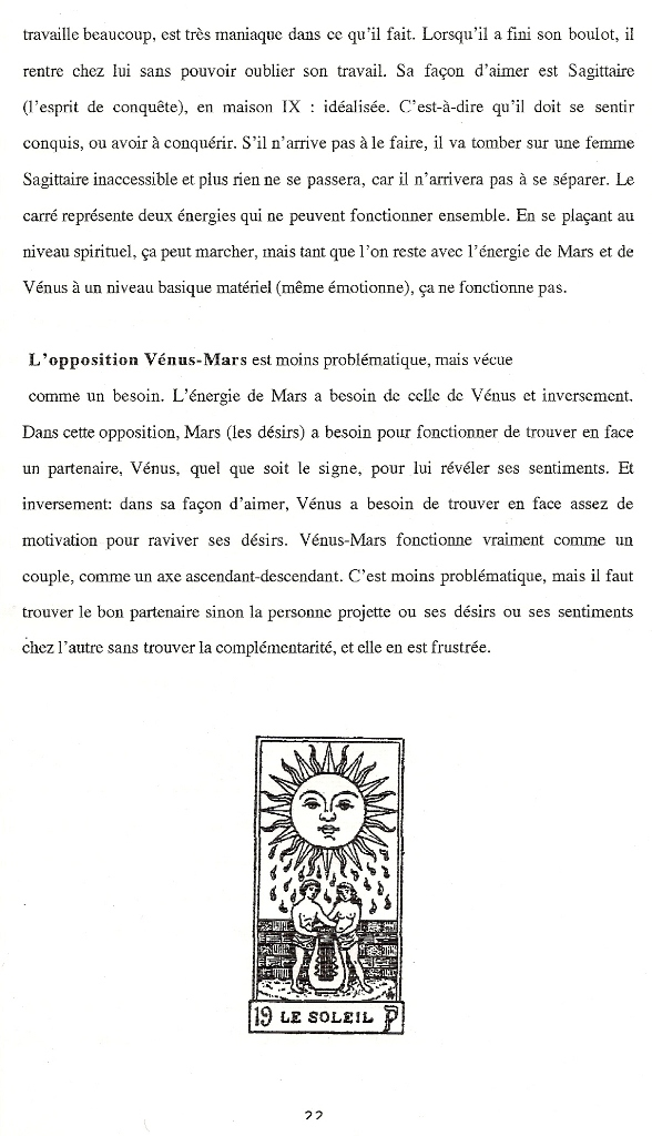 Aspects majeurs Vénus-Mars natal  Aspect12