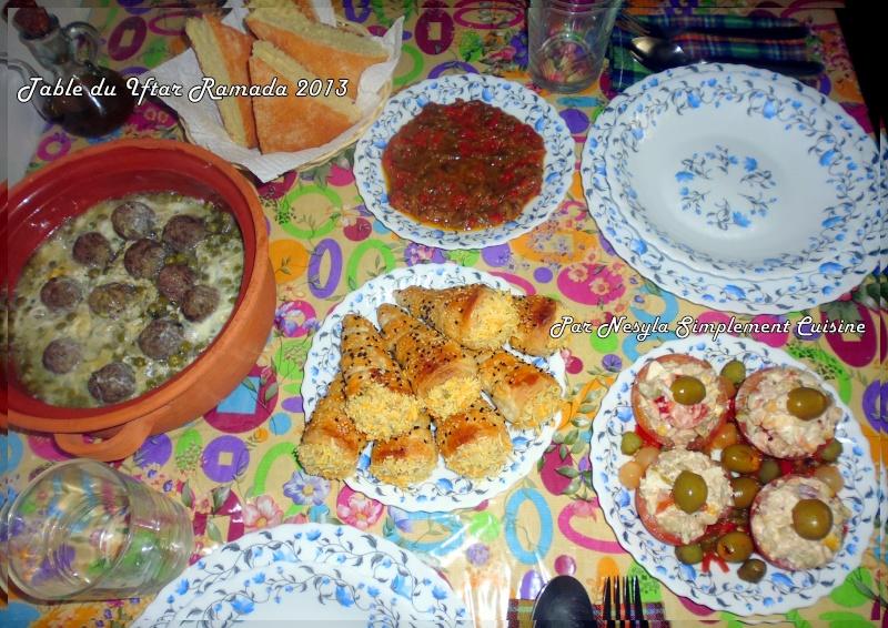 Nos tables du f'tour * Les dîners ramadanèsques* - Page 6 Menu_710