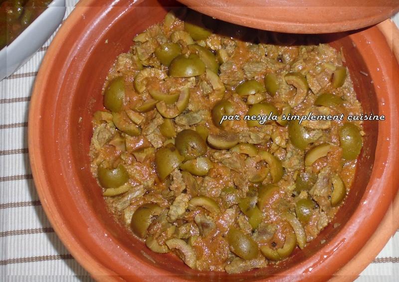 Tajine d'olives aux dés de viande Tajine10