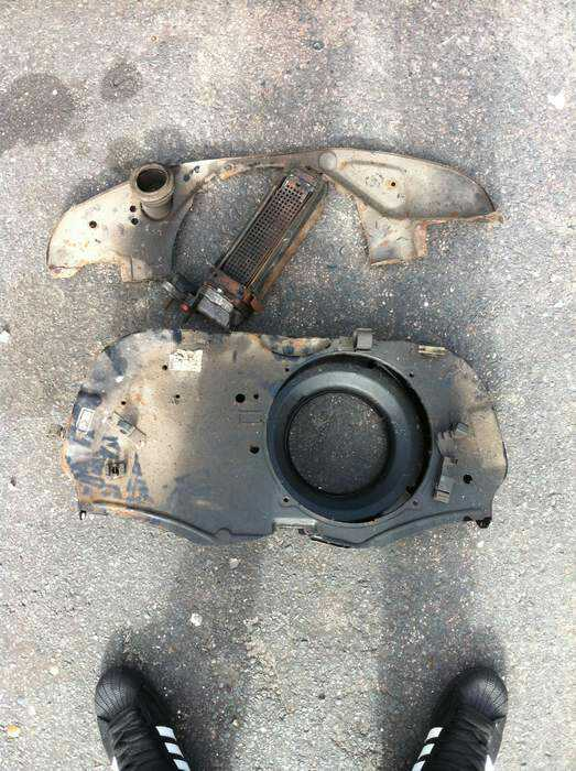 Aircooled engine fan housing and fuel injection Rps20110