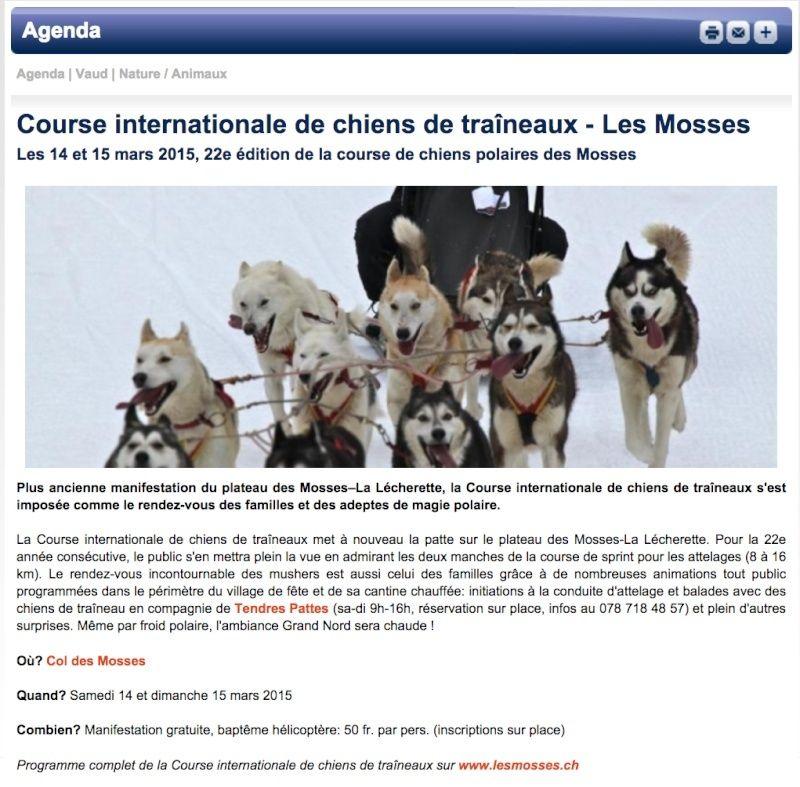 Course internationale de traîneaux à Chiens - Les Mosses - Suisse Annonc10