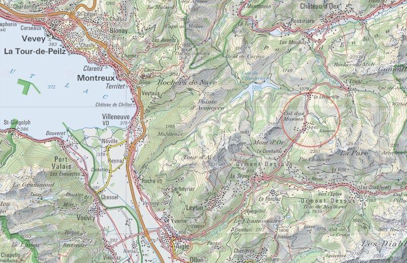 Course internationale de traîneaux à Chiens - Les Mosses - Suisse Carte10