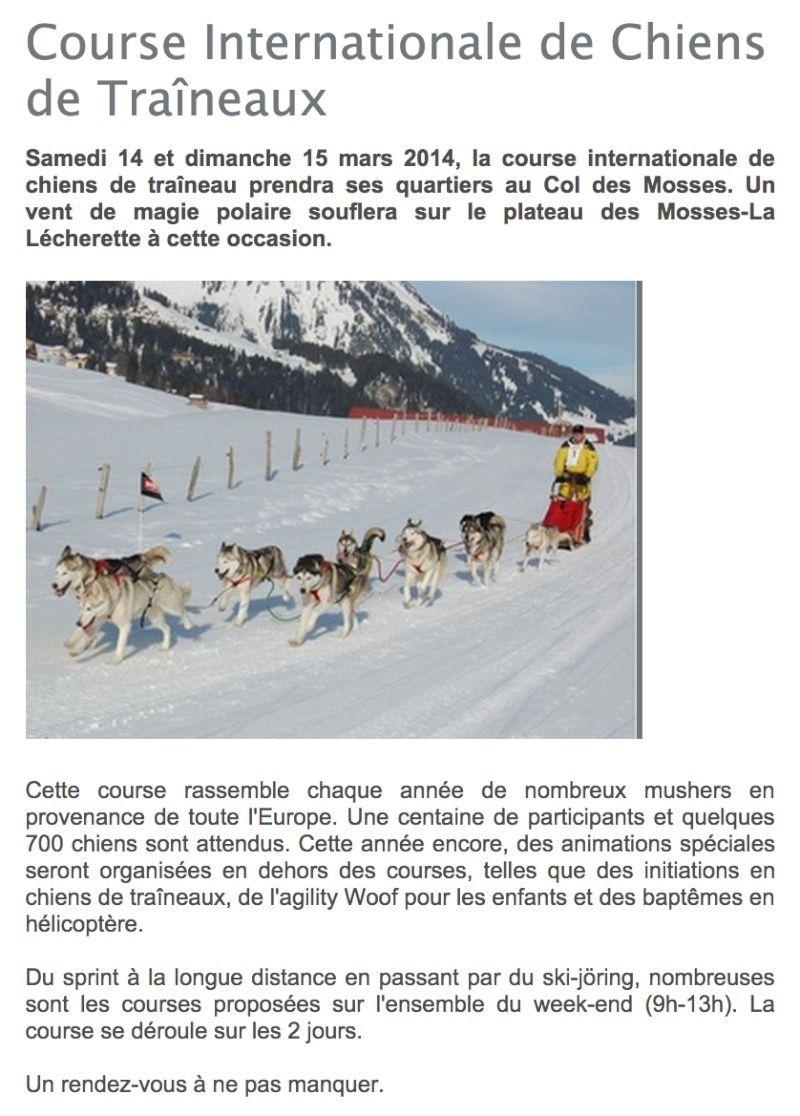 Course internationale de traîneaux à Chiens - Les Mosses - Suisse Prysen11