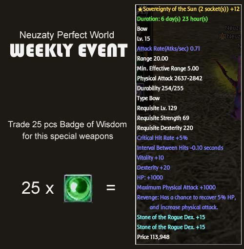 Weekly Event Eventm10