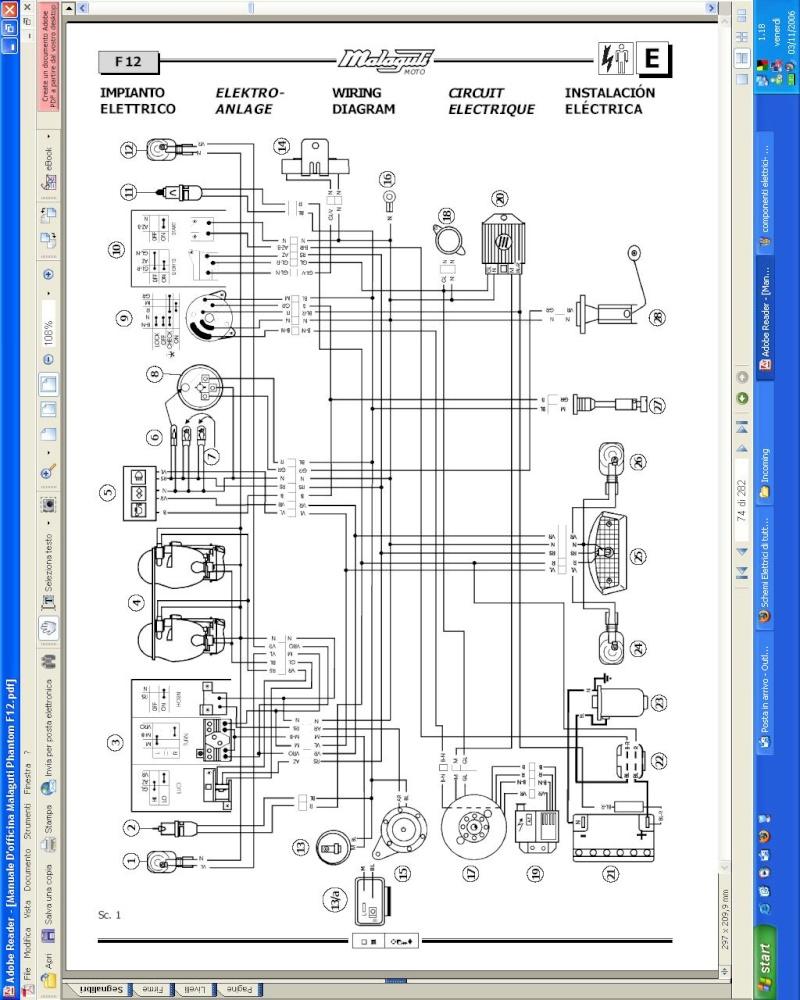 Riparazione suzuki Katana 50 schemi Schema12