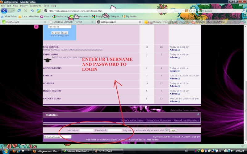 HOW TO LOGIN AND CHAT Tut_610