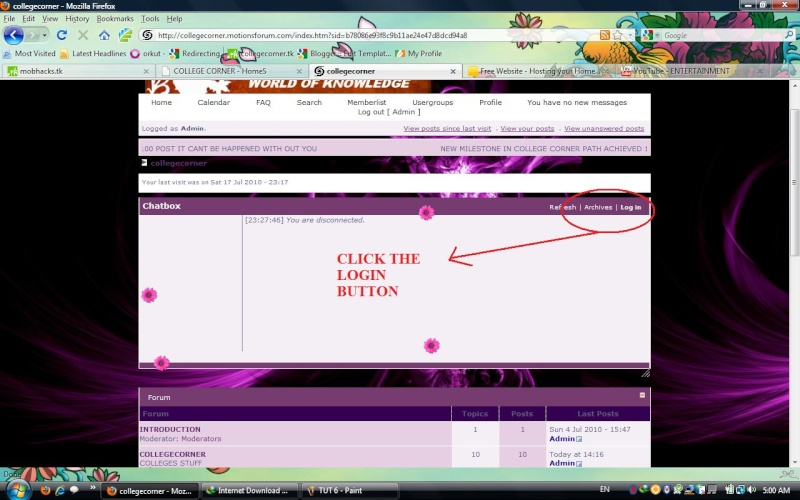 HOW TO LOGIN AND CHAT Tut_710