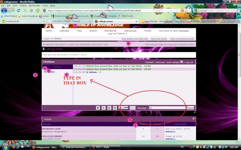 HOW TO LOGIN AND CHAT Tut_810