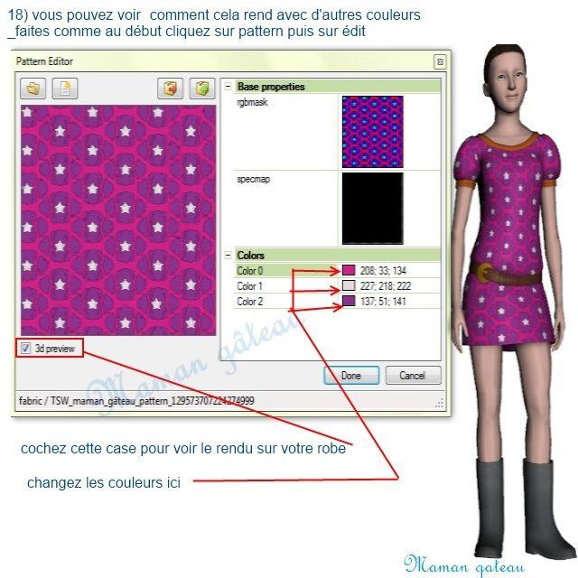 [Apprenti] TSR Workshop : voir ce que donne  sur un vêtement ou un objet du jeu  le motif que vous venez de créer avec TSR avant de l'exporter  1011