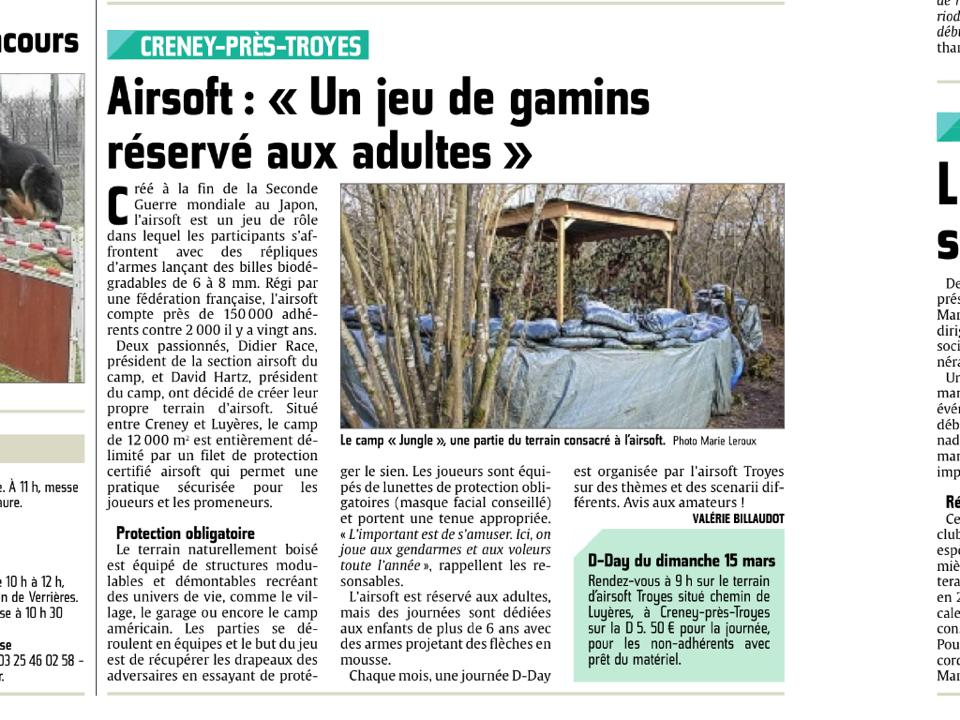 """Le camp"" , terrain Airsoft Troyes 10426310"