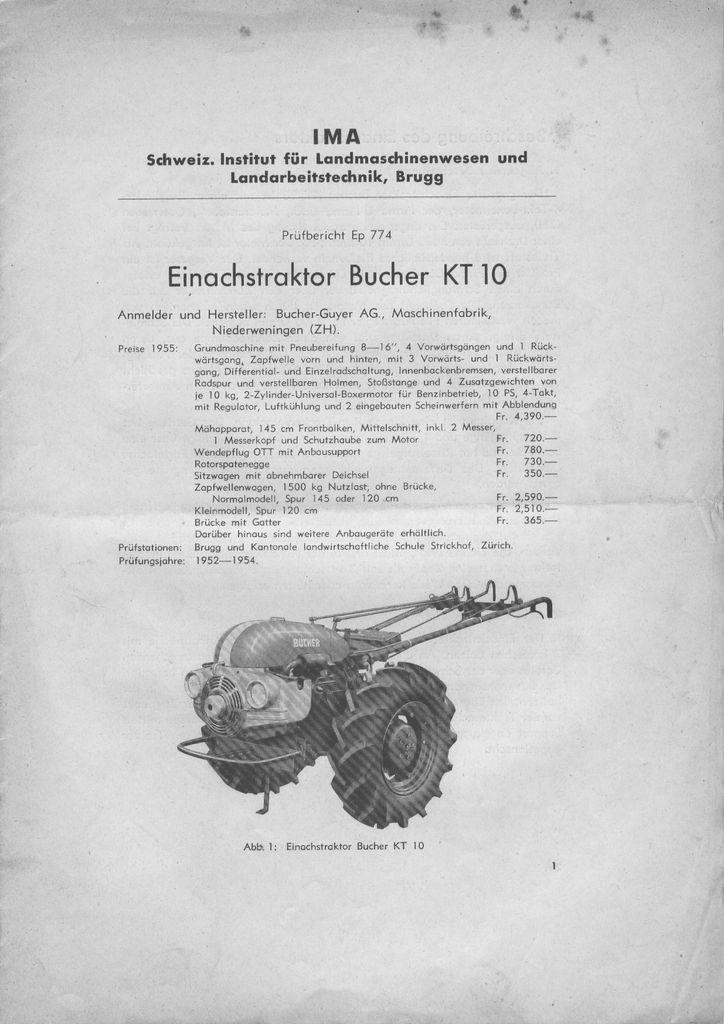 Notices Motoculture: Agria, Bernard, Bouyer, Ferrari, Goldoni, Honda, Kubota, Lombardini, Motostandard, Staub, Wolf ... Bucher10