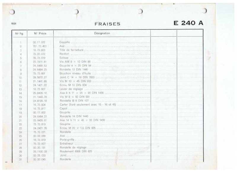 Rotovator pour 1032 largeur 800mm. 00310