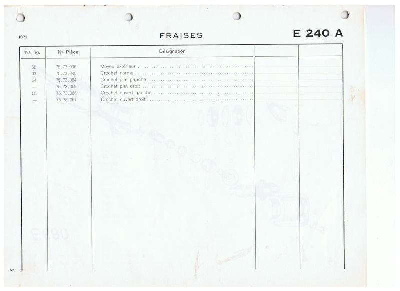 Rotovator pour 1032 largeur 800mm. 00710